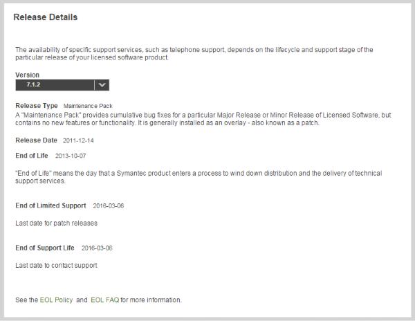 Support-Ende von Altiris 7.0 und 7.1 (Notification Server)