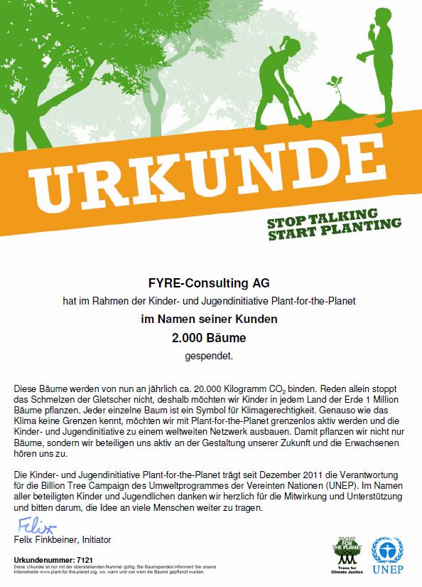 FYRE Consulting AG mit nachhaltiger Investition in die Zukunft
