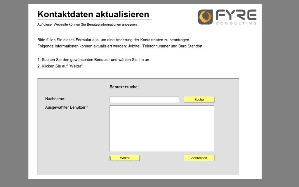 Active Directory User Informationen mit Workflow aktualisieren