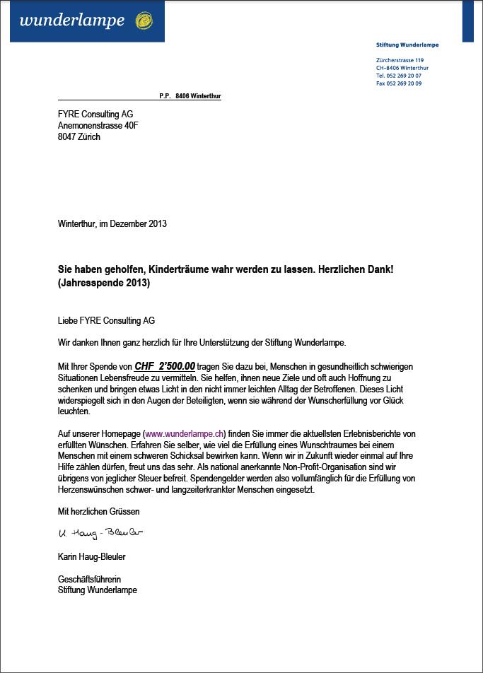 FYRE unterstützt nachhaltige Projekte auch im 2013